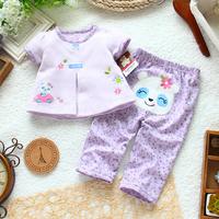 Children's clothing the appendtiff set female child set top skirt trousers set