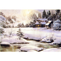 Free Shipping Scenery puzzle 1000 piece jigsaw puzzle adult creative gift gold everywhere