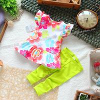 Children's clothing fashion baby summer fashion set t-shirt trousers set clothing skirt t-shirt