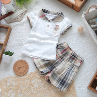 Summer children's clothing female child set fashion t-shirt shorts 100% cotton top trousers baby set