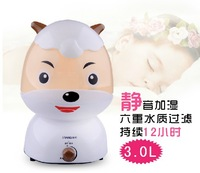 Air humidifier 3.6 L new cartoon humidifier, air humidifier anion super large capacity fog baby small room