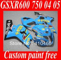 2013 Motorcycle Fairing kits for SUZUKI GSXR600 750 GSXR600 GSXR 750 K4 04 05 2004 2005 RIZLA blue Racing Fairings kit SC11