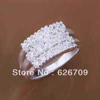 JR143 free shipping lowest price Wholesale 925 solid Silver earring,hot high quality charm fashion jewelry, multi-stone Ring