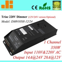 Free Shipping Top selling 350W 220V Triac Dimmer, Triac dimming led driver,PWM_28A(14A) dimmable driver 1ch DM9105H-12/24