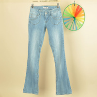 2014 women's hemp cotton low-waist bell bottom jeans trousers plus size new fashion large size jeans women