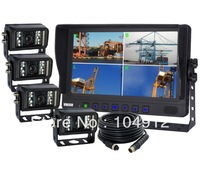 "Heavy Duty, 9"" Quad Backup Rear View Reverse System Cab Observation Video System, WHOLESALE"