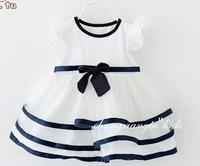 Retail 2013 Summer Children Kids Clothing Girls Rose Flower Yarn Princess Tank Dress  for 2-6 years