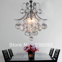 Free Shipping 110-240V 3 Lights D30CM K9 Crystal Modern Chandelier For Dinner Room From Manufacture Sales Fast Delivery Time
