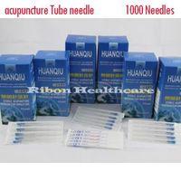 1000 Needles(10 Boxes)-Huan Qiu Sterile Disposable Acupuncture Needle Zhenjiu needle Copper Handle Tube (CE FDA) Size options