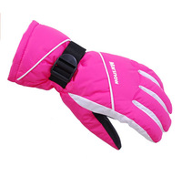 Men's and women's parent-child model ski gloves \ \ wind waterproof outdoor gloves 802 top warm gloves. Free shipping