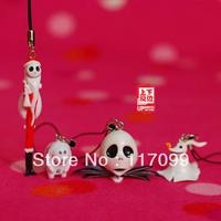 Pumpkin jack zero mobile phone rope pendant,4 pices/set,free shipping