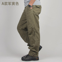 Outdoor loose spring and autumn sports pants overalls male trousers male casual pants long trousers