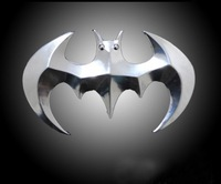 Promotion 3-D Mental Batman Sticker For Car Golden And Silvery Color