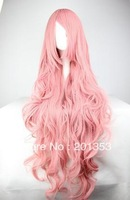 85cm Long Vocaloid- Luka Pink Wavy Anime Cosplay wig Free Shipping