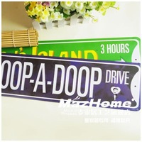 Long design metal painting license plate vintage decoration murals bumpmaps drive