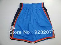 Wholesale 2013 Cheap Mens Oklahoma KD #35 Kevin Durant Home Blue Basketball Sports Short,Adult Fashion Athletic Shorts.M-XXL