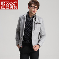 Xiangsi bird red bean men's clothing 2013 spring and autumn outerwear male business casual stand collar short jacket design