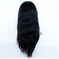 """Front Lace Wigs with Stretch Lace Back Silky Straight 2# Darkest Brown 8""""-24"""" Indian Remy Virgin Human Hair 120% Density Cheap"""