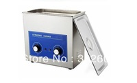 SUS 304 Stainless steel ultrasonic cleaner 6L machanical manipulator timer and heater with basket for jewelry, car parts