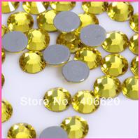 Free Shipping!CITRINE High Quality DMC Flat back Iron On Rhinestones / Hot Fix Crystal Rhinestones SS6 SS10 SS16 SS20 SS30