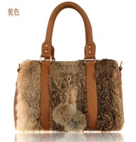2013 winter rabbit fur bag hot-selling women's handbag portable women's handbag high quality free shipping