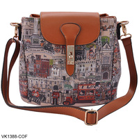 New Arrival 2014 Fashion British style Vintage London Print Women Shoulder Bag Cross Body Messenger Bag Free Shipping VK1388