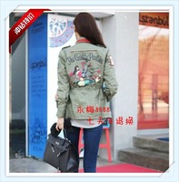 Shes-story little demon of rivet military applique epaulette female clothes trench outerwear