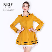 2013 autumn and winter cashmere overcoat fashion trench wd3d7404