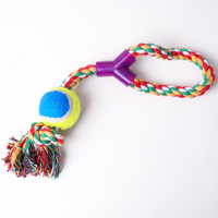 NO POSTAGE UPON ONE-TIME SHOPPING ABOVE $20 Cotton rope y single plastic pet odontoprisis cotton rope toy tetherball