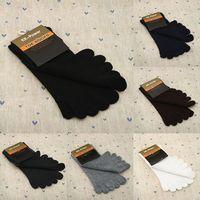 Wholesale 1Pairs/lot Colors Men's Cotton Five Fingers Toe Socks 5 fingers socks Stockings 6colors