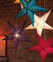 Laser three-dimensional five-pointed star ceiling hangings paper pentastar Christmas wedding decoration supplies