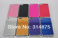 500pcs/lot Free Shipping Luxury Deluxe Chrome Hard Aluminum Case For Iphone 5C