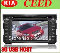 G USB host Kia Ceed 2010-2011 HD Car Radio taper with GPS/ Blue tooth/I-POD control/Radio/Amplifier Special rear view camera