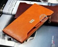 Genuine leather women wallet new 2013 fashion leather bags women purse leisure long zipper wallet zero wallet  card holder