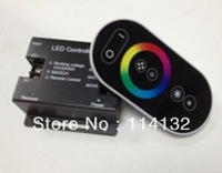 Touch screen RGB led controler RF wireless DC12~24V use for RGB led lighting best price Free shipping