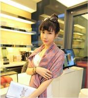 Women's New Elegant Tassel Silk Print  Long Scarf High Quality Ladies Shawl Wrap 70CM*200CM  Free Shipping