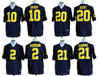 Michigan Wolverines,free shipping ncaa men college football jersey,Tom Brady,Mike Hart,Charles Woodson,Desmond Howard.