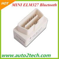 10pcs/lot! 2013 MINI ELM327 Bluetooth OBD2 V1.5 B white color ELM327 MINI OBDII Code scanner high quality