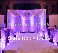 1 Set Free Shipping Wedding Backdrops With Swag and Drape Wedding Backdrop