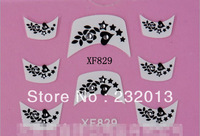 Free Shipping DIY Nail Art Stickers Water Decal Leaves Star Print Applique Wedding Bridal Patches 3d French Cheap XF829