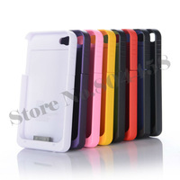 Ultra Slim 1900mAh External Backup Battery Charger Case For Apple Iphone4S 4 4G Emergency Charger Power Bank 8 Colors Available
