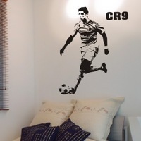 Free Shipping Home Decor Boy's Room  football star fans Cristiano Ronaldo wall stickers wall decals100 x 58cm