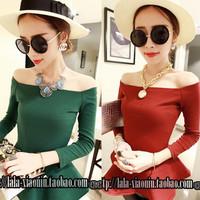 678 2535 ladies beautiful skirt slit neckline cotton top