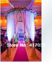 1 Set Free Shipping The new round hall wedding props Ice Silk Soft Touch Wedding stage Backdrops For All Events