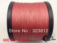 Free shipping wholesale 1500yds red 8LB---------100LB braided fishing line dyneema