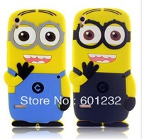 Cartoon 3D Cute Despicable Me 2 Minions Silicone Soft Case For Huawei Ascend P6 10pcs/lot