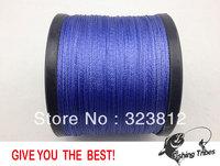 Free shipping wholesale 1500yds blue 8LB---------100LB braided fishing line dyneema