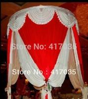 1 Set Free Shipping fabric background cloth curtain wedding white decoration fabric indoor