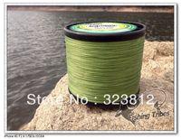Free shipping wholesale 1500yds grass green 8LB---------100LB braided fishing line dyneema