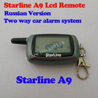 LCD remote controller Starline A9 two way car alarm sytem free shipping